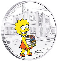 2019 The Simpsons Lisa Simpson 1oz $1 Silver 99.99% Dollar Proof Coin