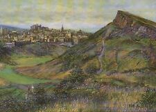 Edinburgh, Salisbury Crags Scotland, Arthur's Seat - United Kingdom Art Postcard