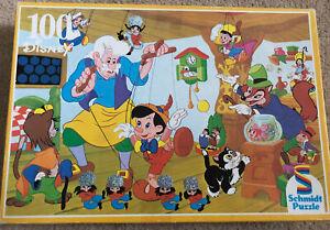 Rare Vintage 90s Schmidt Disney Jigsaw Puzzle, 100 Piece Pinocchio - Complete