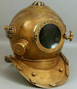 Diving Helmet US Navy Mark V Deep Sea Marine Divers Antique Scuba SEA Divers A5