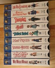 Shirley Temple ~ 9 VHS lot collection all factory SEALED classics videos classic