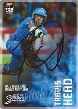 ✺Signed✺ 2014 2015 ADELAIDE STRIKERS Cricket Card TRAVIS HEAD Big Bash League