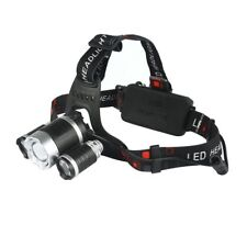 Headlamp Headlight, 3 HEAD CREE XM-L T6 LED 18650 BAT. BY PROCAMP, 13000LM