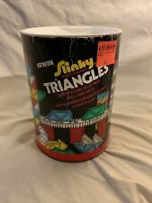 Vintage Slinky Brand Triangles  Learning Toys Made USA creative learn toy 60 pc.