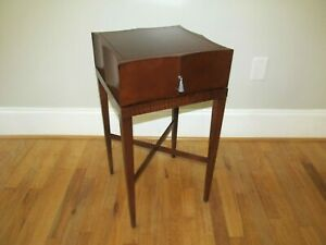 Mid-Century BAKER Madison Fluted Solid Wood Nightstand w/Drawer End Table