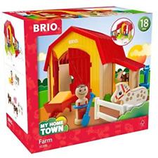 Brio My Home Town Farm Wooden Toy Set New Kids Baby Toy Children 18+ Months Kids