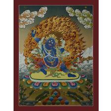 "Tibetan Buddhist 24.5""x18.5"" Vajrapani Thangka Painting"