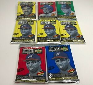 1994 Upper Deck Lot of 8 Collectors Choice Series 1 MLB Baseball Card Foil Packs