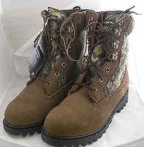 "Proline 9"" Camo Waterproof Hunting Boots Size 8.5 3048"