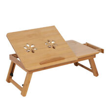 Best Folding Dormitory Bed Lap Desk Bamboo Laptop Breakfast Tray Table Stand US