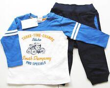 Hose Shirt Gr.68 H&M NEU 100% Baumwolle blau weiß Jogging Anzug set sweat baby