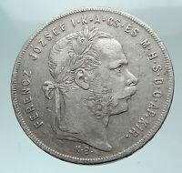 1879 HUNGARY w King Franz Joseph I Hungarian Genuine Silver Forint Coin i82236