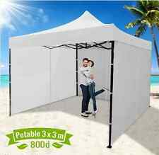 Party & Function Tent 3 x 3 Metre Portable Outdoor White Pop Up Gazebo/ Canopy
