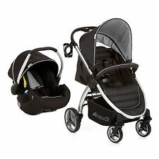 NEW HAUCK BLACK LIFT UP 4 SHOP N DRIVE ONE HAND FOLD TRAVEL SYSTEM WITH CARSEAT