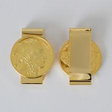 $50 Liberty Buffalo Money Clip Wallet Clips 24k Gold Plated Money Holder - HDS