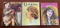 Motion Picture Classic Magazine Lot of 3 Issues COMPLETE 1916 1920 1926