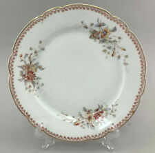 C108 Porzellan Kuchen-Platte Teller 19.Jh. Blumendekor