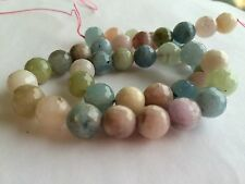 KUNZITE NATURAL  8MM FACETED ROUND BEADS 15.5""
