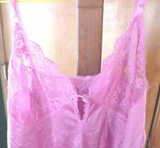 Womens Vintage VANITY FAIR Pink Snap Crotch Teddie Size 34