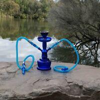 Hookah Blue Shisha 2 Hose Pipe, Shisha Flavour x 1, Charcoal x 1 Mouth Tips x 4