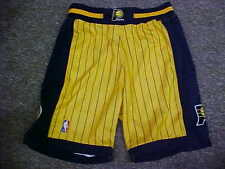 NBA Indiana Pacers 2001-2002 Game Worn Gold Reebok Basketball Shorts Size: 44