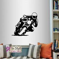 Wall Vinyl Decal Dirt Bike Motorcycle Rider Extreme Moto Sports Guy Sticker 829