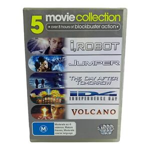 5 Movie DVD Pack - i Robot, Jumper, Day After Tomorrow, ...Day, Volcano - R4