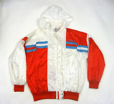 394293217419 Vintage Adidas Men s Hooded Shiny Nylon Jacket Glanz Nylon Jacke