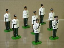 DUCAL 10th GURKHA RIFLES WHITE JACKETS PARADE GROUP AT ATTENTION x 8 & OFFICER