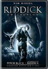 New Sealed} Riddick Collection Dvd Pitch Black Chronicles of Riddick & Dark Fury