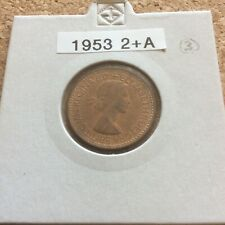 More details for 1953 elizabeth ii farthing (currency) (2+a) unc bmc 2520b extremely rare