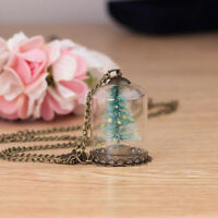 Luminous Christmas Tree Crystal Necklace for Woman Glow In The Dark Xmas Gifts