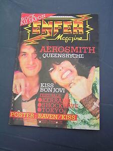 Enfer Magazine 19 1984 AEROSMITH MOHO DEEP PURPLE QUEENSRYCHE DIO ROCK JAPAN GEN