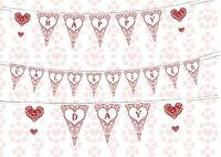 Happy Valentines Day Themed Bunting Banner 15 flags by PARTY DECOR