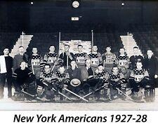 New York  Americans - 1927-28, 8x10 B&W Team Photo