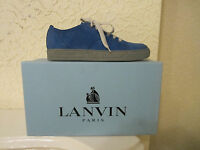 Lanvin Nubuck Leather Low Top Sneakers