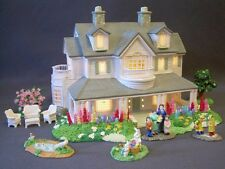 Christmas Easter Village Lighted Ceramic House and Accessories People Summer Set