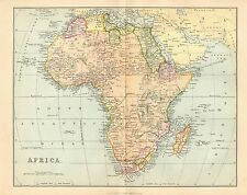 1868 PRINT ~ MAP OF AFRICA