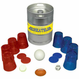 Drinkathlon Keg Shaped Tin - 10 Drinking Game Contests for 4-20 Athleoholics