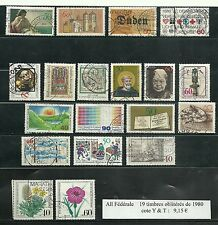 19 timbres de 1980 & 23 de 1981 d'All Fédérale oblitérés bon état voir le scan