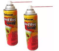 2 Pack Enforcer 14 Oz Bedbug Tick Flea Lice Cockroach Dust Mites Killer Spray
