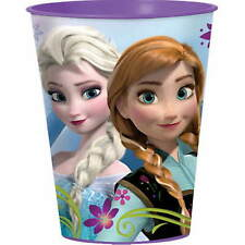 DISNEY FROZEN PARTY Elsa and Anna Reusable Plastic Drinking Cups to Keep x Two