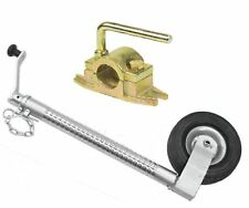 500KG 48mm Heavy Duty Ribbed Trailer Caravan Boat Horse Box Jockey Wheel Clamp
