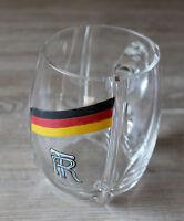 alter Glaskrug, Bierkrug um 1930 wohl Turner, Sport
