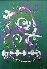 """Joan Miró vintage impresión litografía montado, 1972, 14 X 11"""", indeleble Miro IM134"""