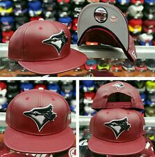 New Era MLB Toronto Blue Jays 9Fifty Leather PU snapback Hat Burgundy