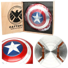 More details for cattoys captain america shield marvel v.falcon 1:1 metal 22'' model cosplay prop
