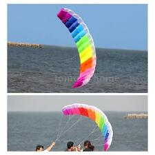 1.4m Double Line Kite Rainbow Stunt Frameless Inflatable with Flying String O0V2