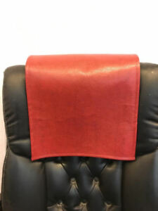 """Recliner 14"""" x 30"""" RED Ford, Head Rest Cover Vinyl Sofa seat Chaise"""