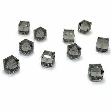 12 Swarovski 5601 Crystal Cube Beads 8mm Jewelry BLACK DIAMOND *Clearance SALE*